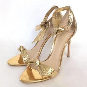 fdea80351e3 Alexandre Birman Gold Claritta Tied Heeled Sandal